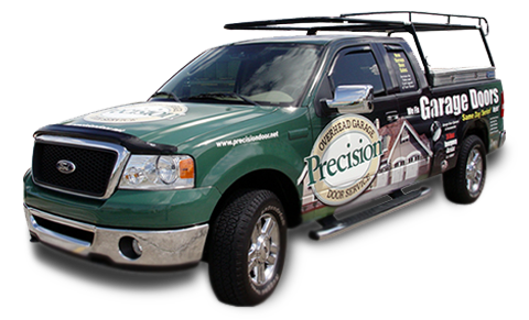 Precison Garage Door Repair Truck and Technician